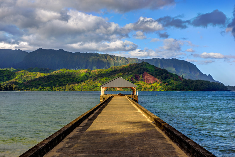 The Long Hanalei Pier at Sunrise