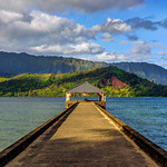 The Long Hanalei Pier at Sunrise