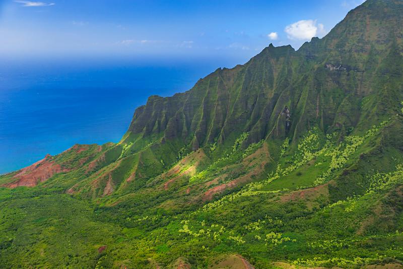 """Kalalau Lookout but shoot from a Helicopter""  Napali Coast, Kauai 3255"