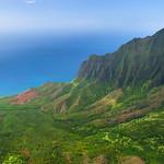 """Kalalau Lookout but shoot from a Helicopter""  Napali Coast, Kauai"