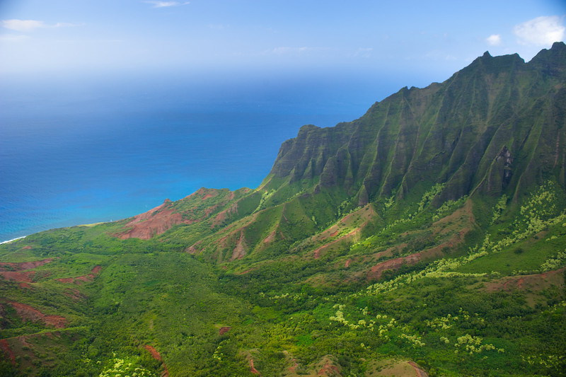 """Kalalau Lookout but shoot from a Helicopter""  Napali Coast, Kauai"