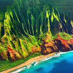 """Late Afternoon along the Na Pali Coast""  Napali Coast, Kauai"