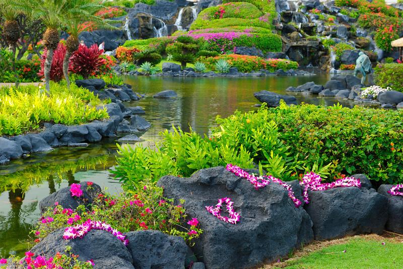 """Tropical Paradise""  The grounds of the Grand Hyatt in Poipu, Kauai"