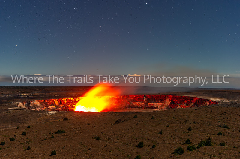 56. Halema 'uma 'u Crater At Night