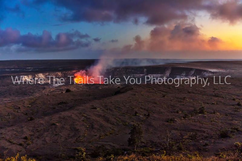 3.  Day's End At Kilauea Volcano
