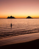 Sunrise Mokes<br /> <br /> The blush of sunrise at the Mokes of Lanikai Beach.<br /> Oahu, Hawai'i, USA