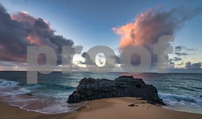 Lumahai Beach Sunset, Kauai, HI