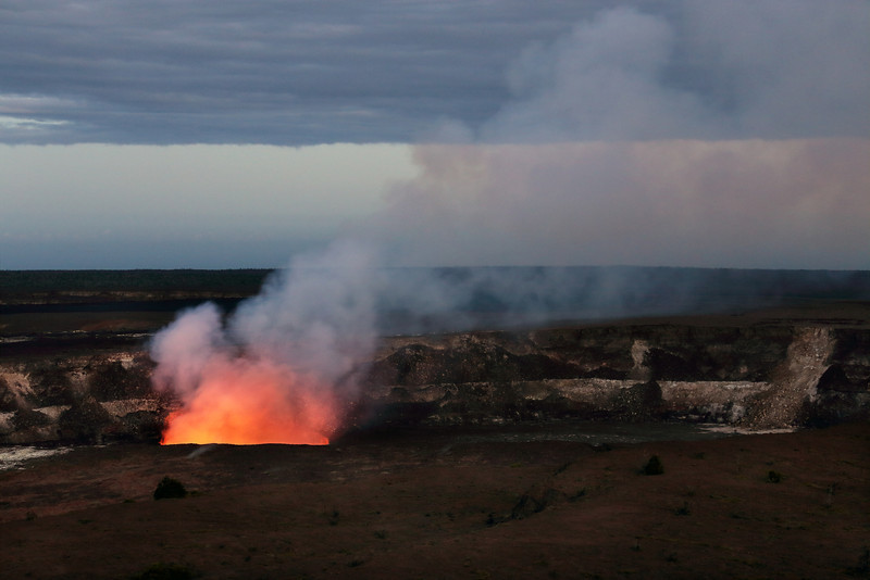 Kiluea Crater At Dusk - Hawaii Volcanoes National Park - Hawaii Island