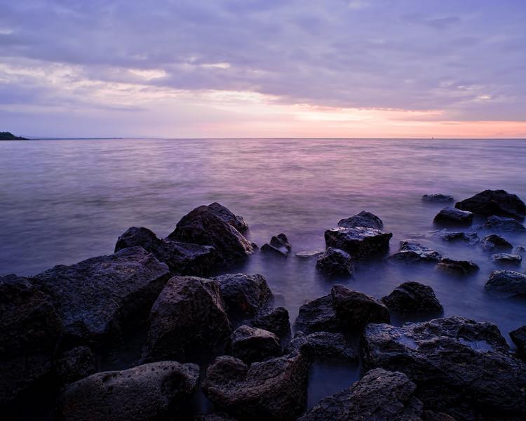 Ohai'ula at Dusk<br /> <br /> The sun has set over the still waters of Ohai'ula beach<br /> Spencer Park, Big Island, Hawai'i, USA
