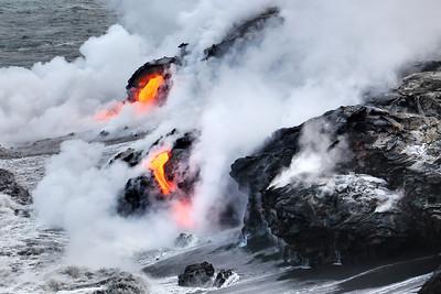 Lava Flow Ocean Entry - Kalapana, HI