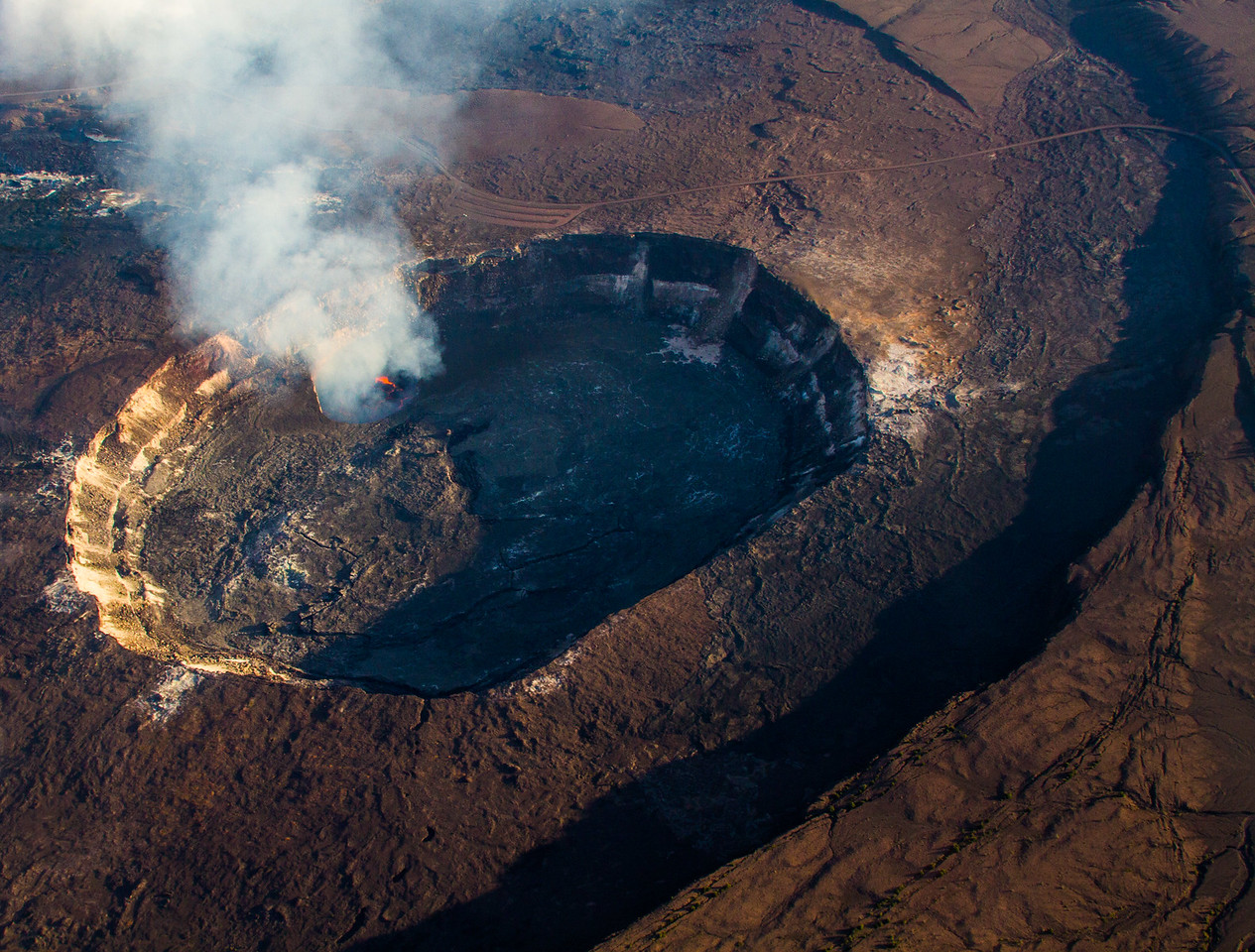 Kilauea Crater Big Isalnd Hawaii