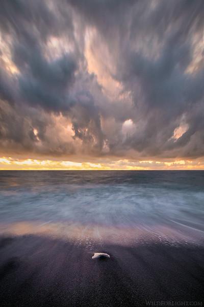 """Doom and Gloom""  - Black Sand Beach, Hawaii"