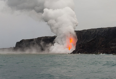 First view from the Lava Boat.