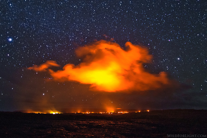 """Kalapana Lava-flow and Universe"" - Hawaii"
