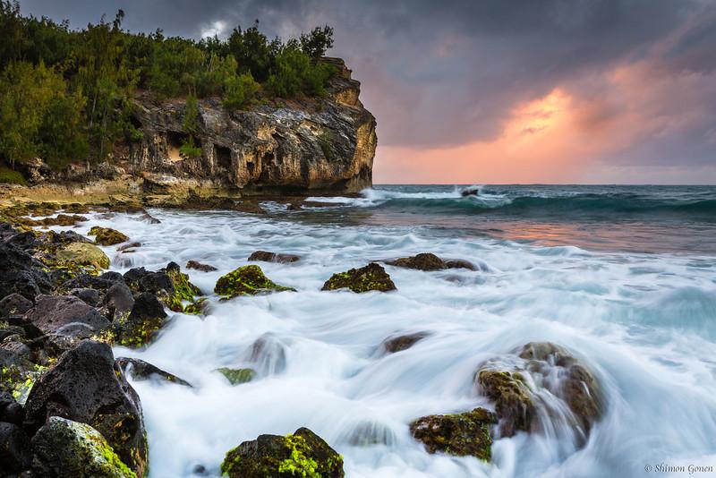 Shipwreck beach sunrise - Kauai