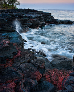 Keawakaheka Lava Sunset  Sunset over the lava rock at Keawakaheka Bay Big Island, Hawai'i, USA