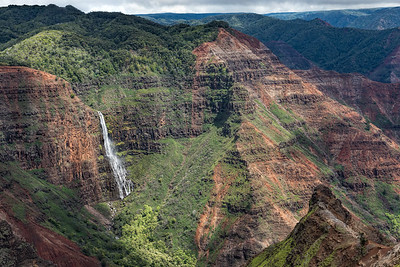 Waimea Canyon and Waipo'o Falls. 3rd place, Travel Prints, N4C May 2017. HM in Best of the Best, N4C 2017.