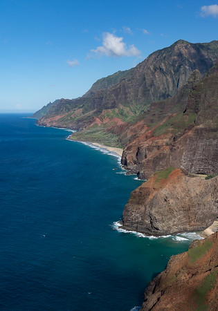 This is part of the Na Pali coast, from a helicopter.