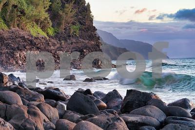 Sunset Na Pali Coast, Kauai, HI