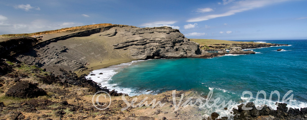 Green sand beach - an old cinder cone located at the southernmost point in the United States