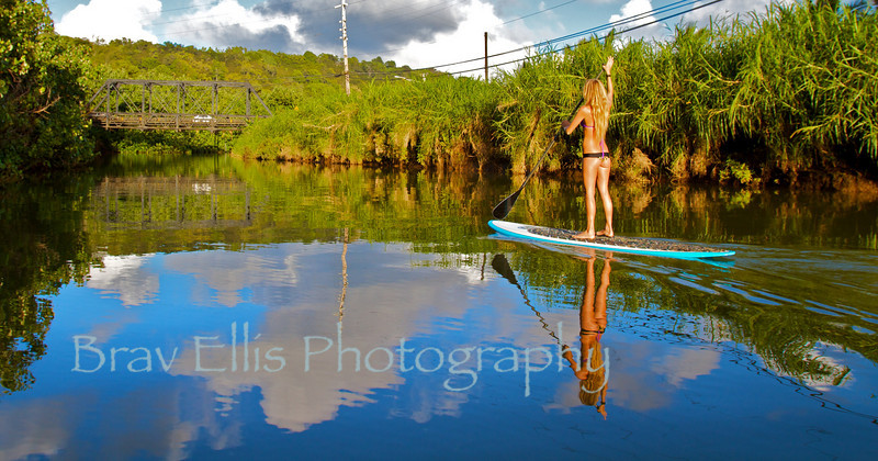 Jen in Hanalei River