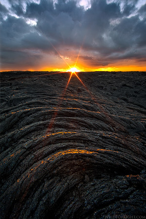 """Sunrise at Kalapana Lava Field"" - Hawaii"