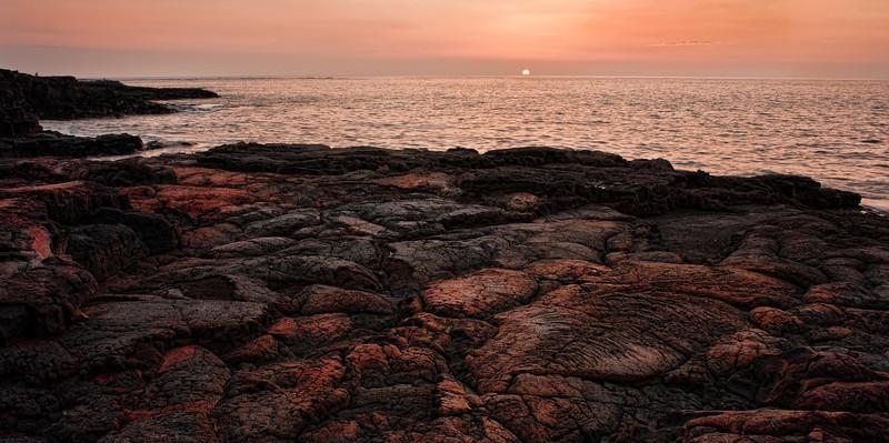 Keawakaheka Bay Sunset<br /> <br /> Sunset over the lava rock at Keawakaheka Bay<br /> Big Island, Hawai'i, USA