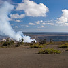 Hawai'i Volcanoes National Park - venting of Halema'uma'u Crater