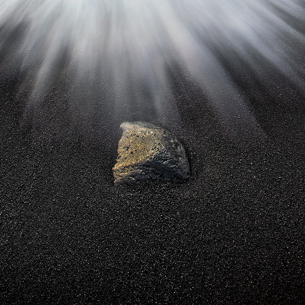 Rock at Black Sand Beach - Hawaii