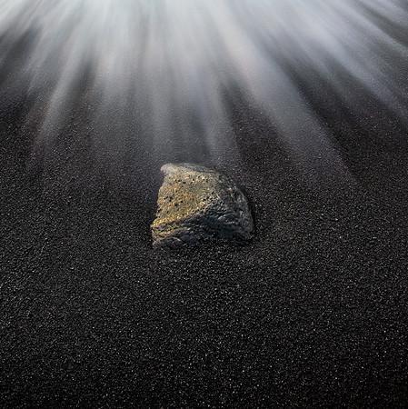 Rock at Black Sand Beach - Hawaii