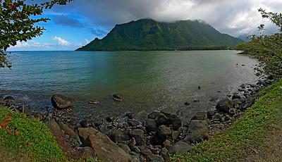 2010-OahuPano01   Kahana Bay, Oahu