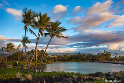Golden Hour over a Hawaiian Lagoon