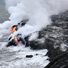 Lava Shelf and Ocean Entry - Kalapana, HI