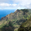 Near the Waimea Canyon, but looking to sea instead of inland, is the Kalalau Overlook with views of the Na Pali coast.