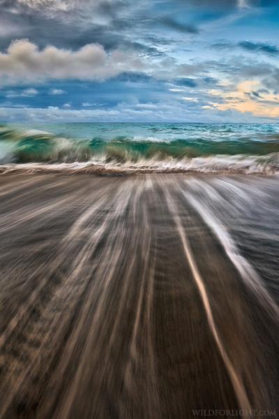 """Streaks at Green Sand Beach"" - Hawaii"