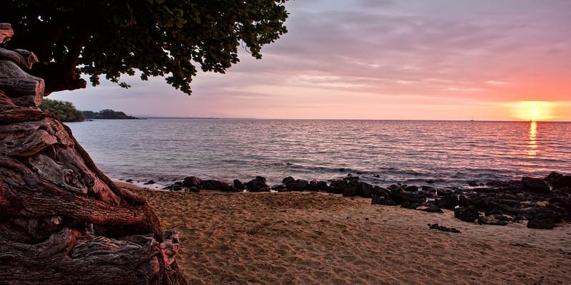 Spencer Beach Sunset<br /> <br /> The sun slowly sets over the calms waters of Ohai'ula beach<br /> Spencer Park, Big Island, Hawai'i, USA