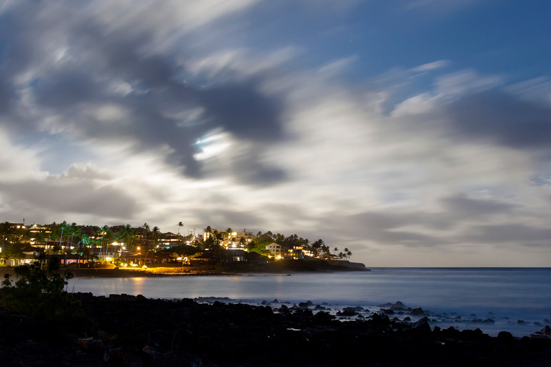 Full Moon Rising over Poipu on the Hawaiian island of Kauai