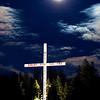 Moon over the Bigfork Cross