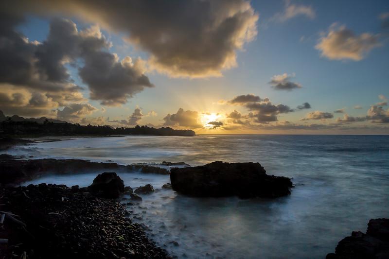 Golden Sunrise on Shipwreck's Beach