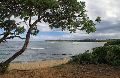 Anahola Bay on the Eastern Shore of Kauai.