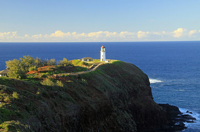 The Kilauea Lighthouse sits on the northernmost point in the Hawaiian Islands.