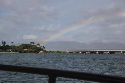 Admiral Clarey Bridge as seen from Pearl Harbor, O`ahu