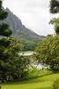 Ho`omaluhia Reservoir in Ho`omaluhia Botanical Garden, O`ahu, Hawai`i