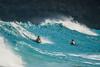 Bodyboarding at Makapu`u Beach, O`ahu, Hawai`i
