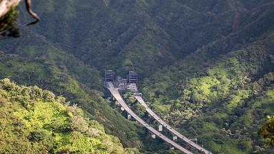 View of H-3 from Aiea Ridge Trail, O`ahu, Hawai`i