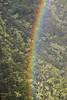 Rainbow over a valley, O`ahu, Hawai`i