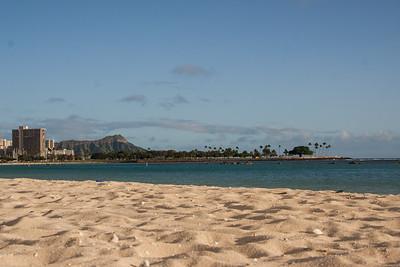 Waikīkī seen from Ala Moana Beach Park, Honolulu, O`ahu