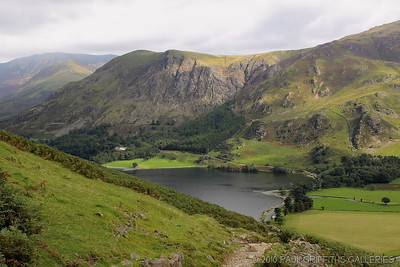 The ascent with Buttermere water below