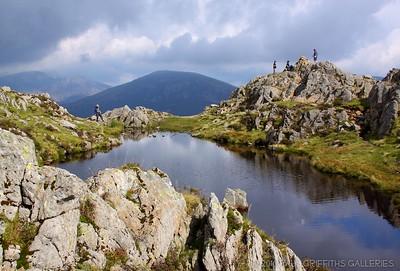 The tarn and summit