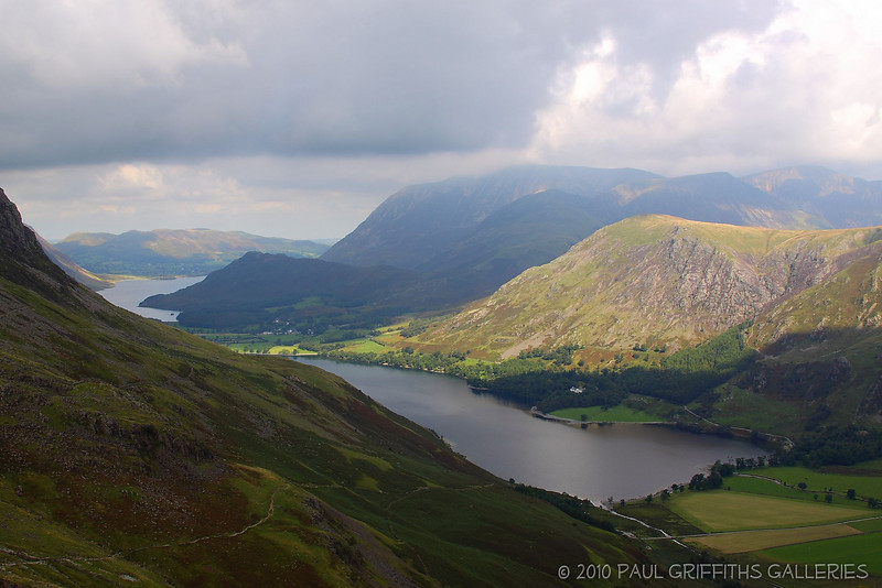 View from close to the summit with Crummock Waters in the distance